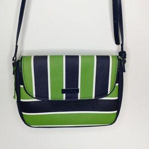 NWOT Vera Bradley Lucky Stripe Flap Crossbody Bag